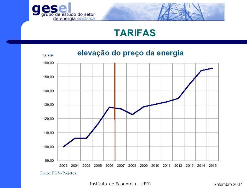 Setembro 2007 Instituto de Economia - UFRJ A QUESTÃO AMBIENTAL Com certeza a questão mais preocupante do projeto.