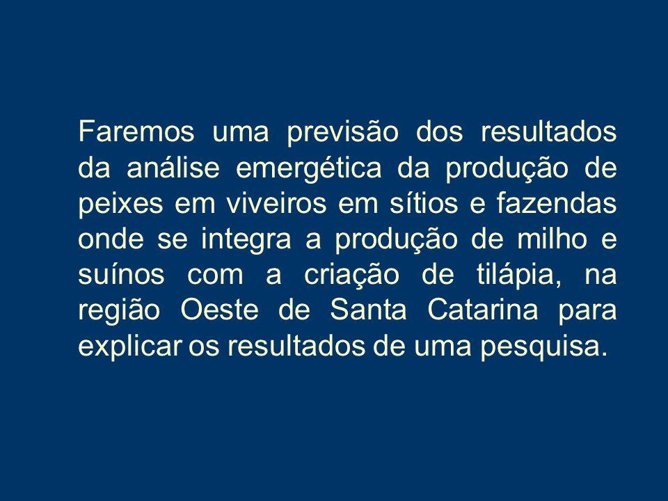 Figura 10. Índices dos viveiros integrado a suinocultura (Cavalett, 2004).