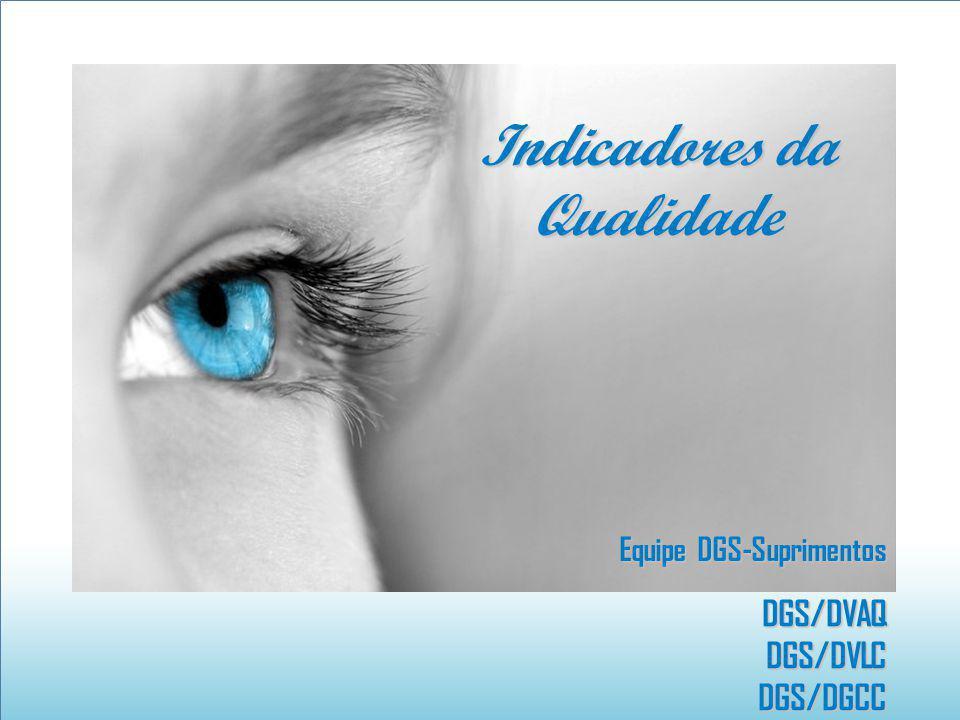 Equipe DGS-Suprimentos DGS/DVAQDGS/DVLC DGS/DGCC DGS/DGCC Indicadores da Qualidade