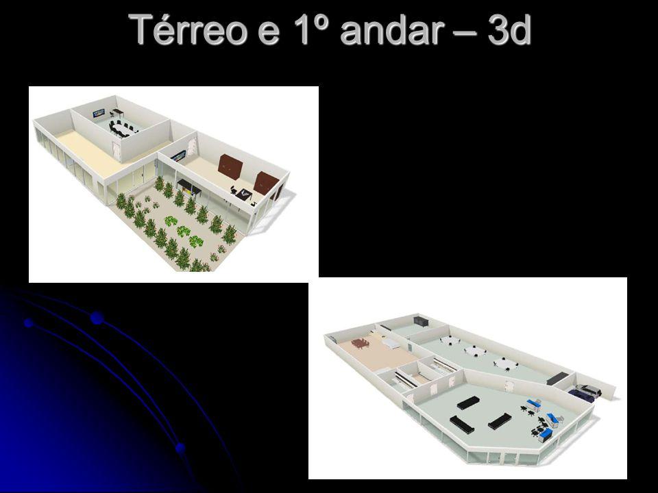 Térreo e 1º andar – 3d