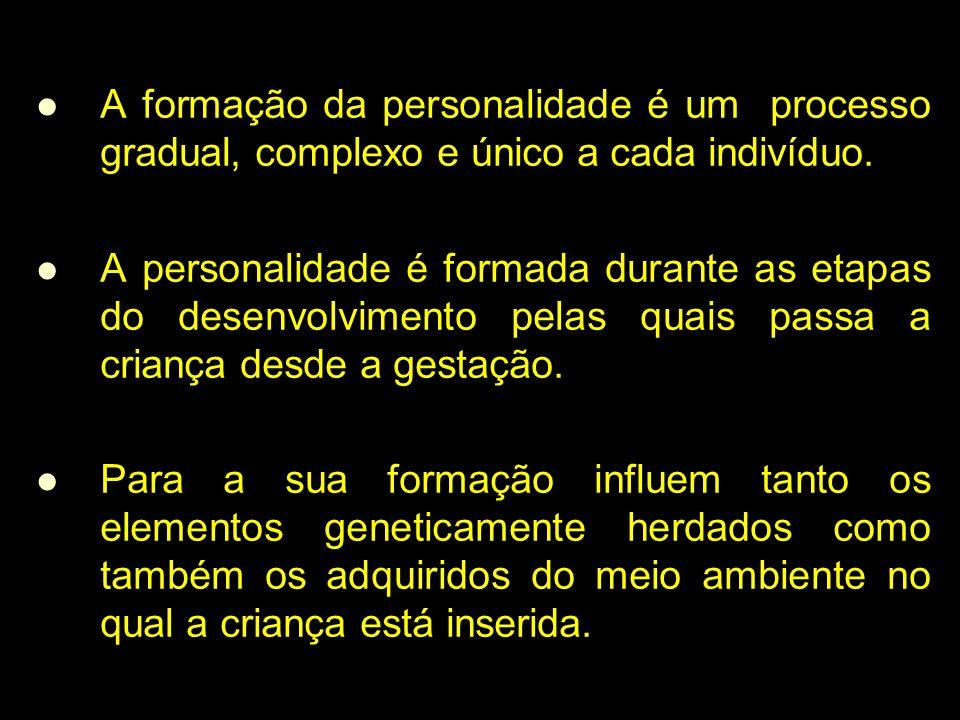 A formação da personalidade é um processo gradual, complexo e único a cada indivíduo.