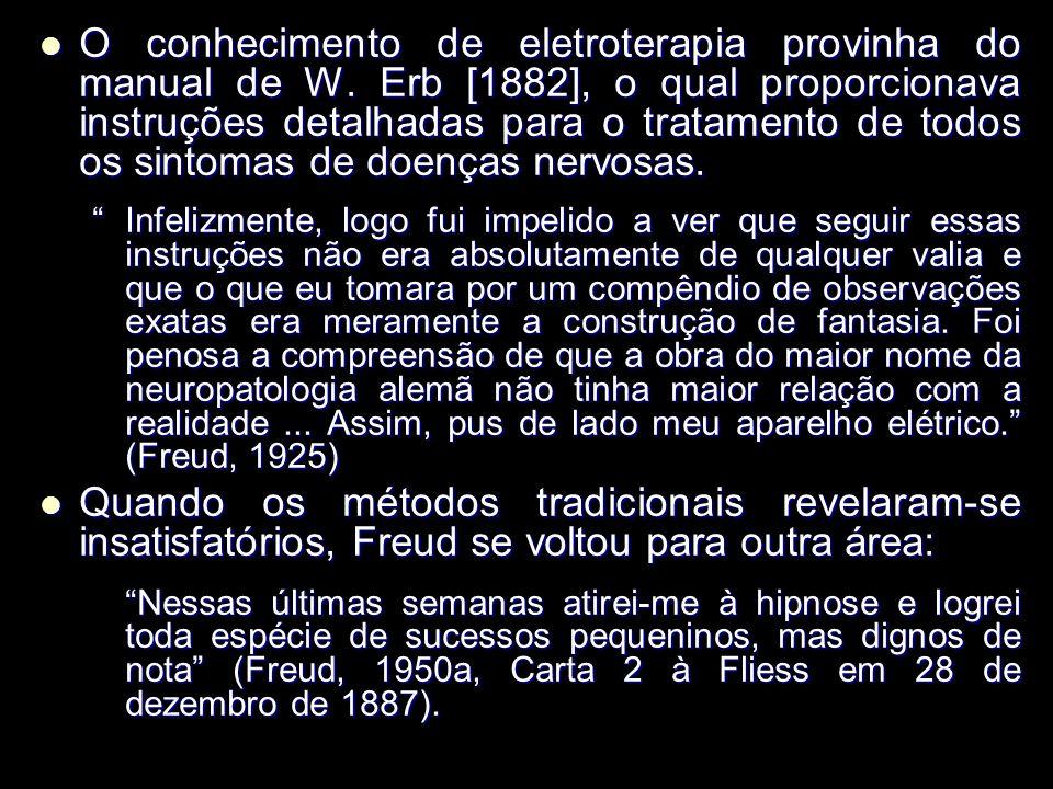 O conhecimento de eletroterapia provinha do manual de W.