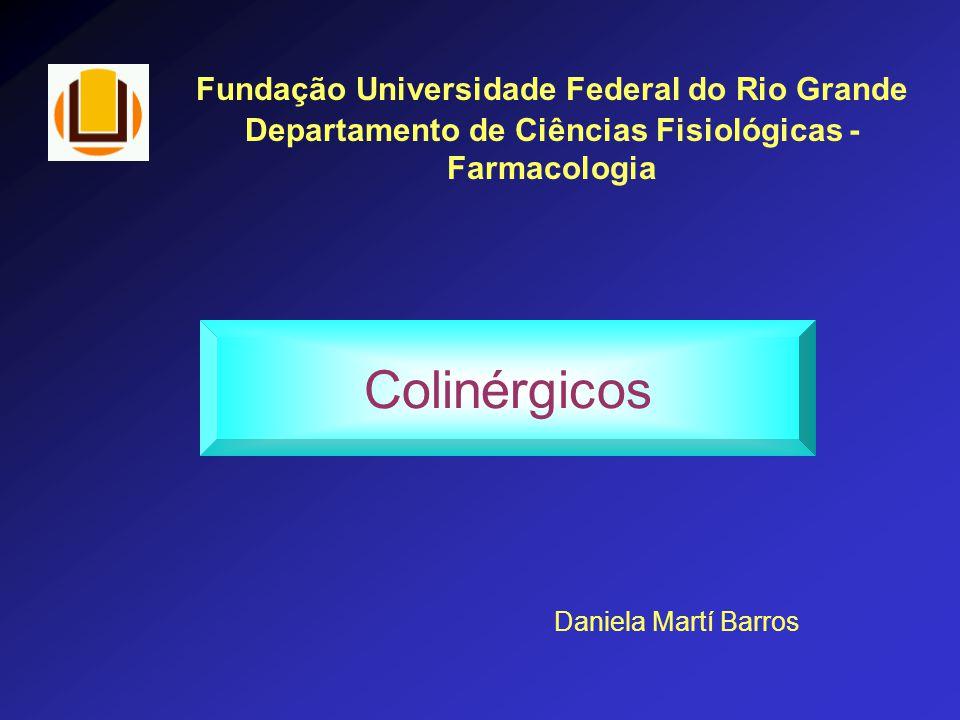 Fundação Universidade Federal do Rio Grande Departamento de Ciências Fisiológicas - Farmacologia Colinérgicos Daniela Martí Barros