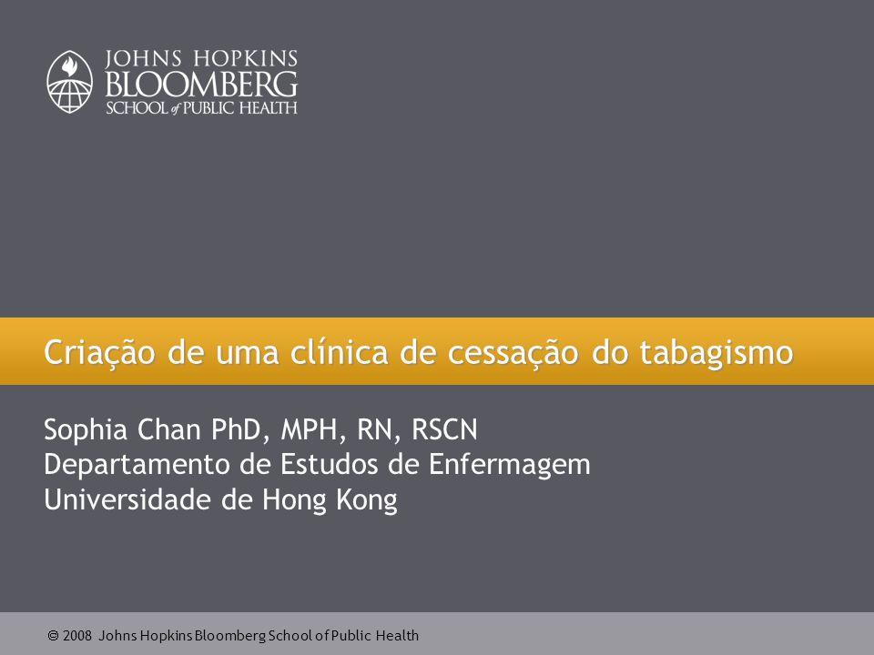  2008 Johns Hopkins Bloomberg School of Public Health 22 Fumante marca consulta com um orientador