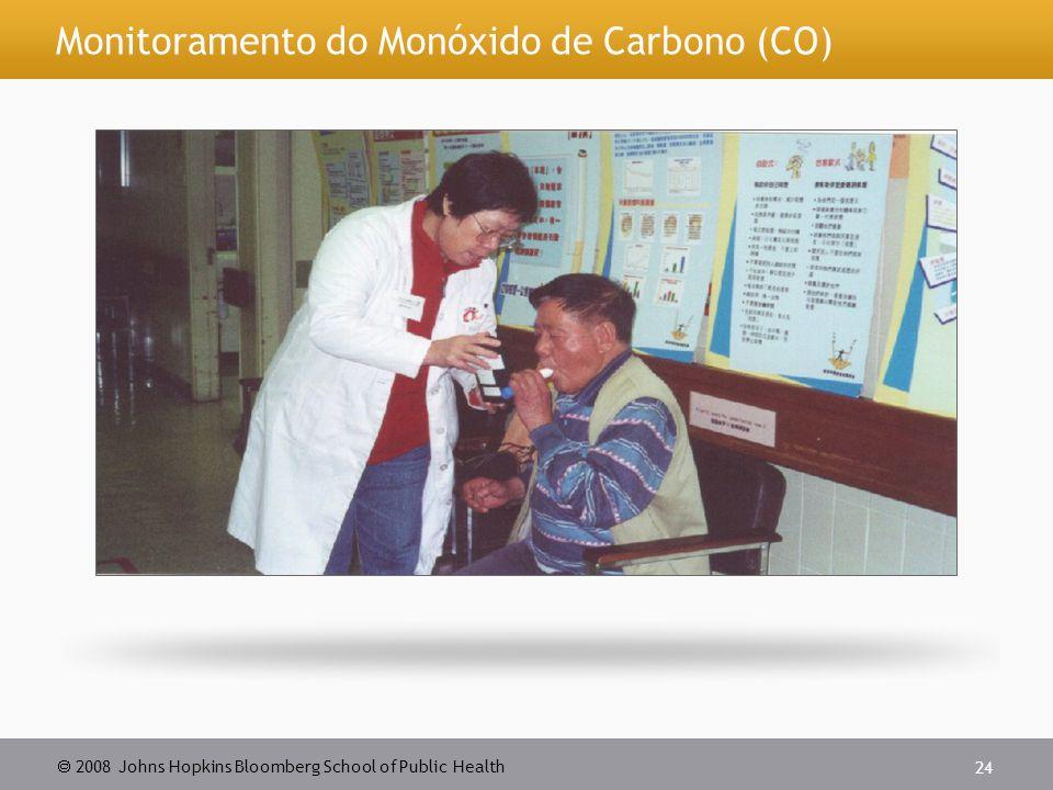  2008 Johns Hopkins Bloomberg School of Public Health 24 Monitoramento do Monóxido de Carbono (CO)