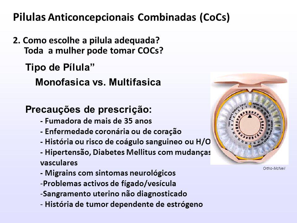 Anticoncepcionais Orais Combinados (CoCs) 3.sinais de alerta para os anticoncepcionais orais.