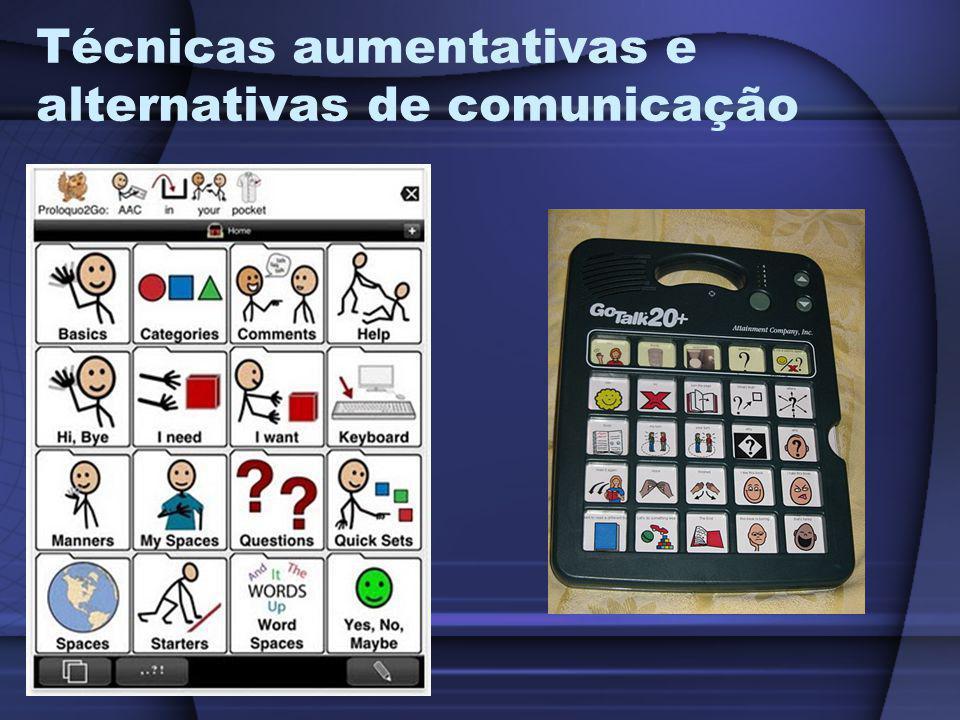 Técnicas aumentativas e alternativas de comunicação