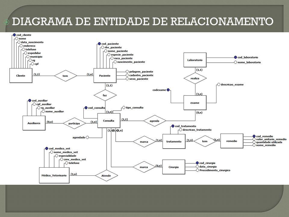  DIAGRAMA DE ENTIDADE DE RELACIONAMENTO