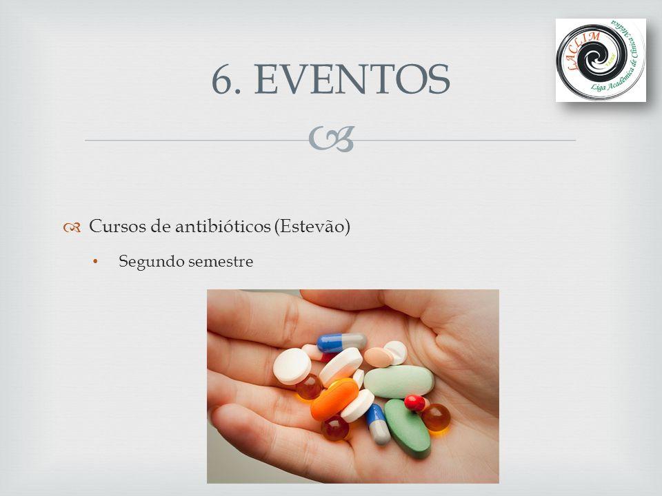   Cursos de antibióticos (Estevão) Segundo semestre 6. EVENTOS