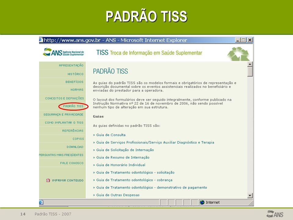 Padrão TISS - 200714 PADRÃO TISS