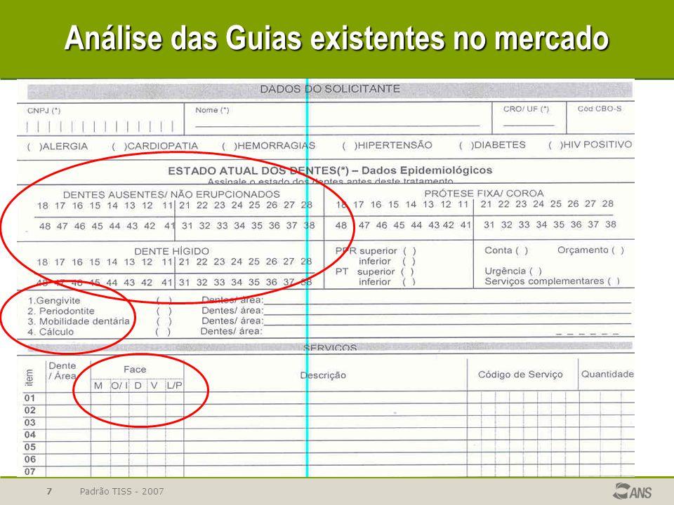 Padrão TISS - 20077 Análise das Guias existentes no mercado