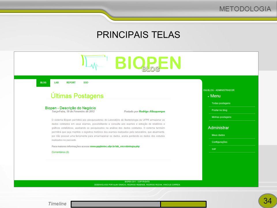 METODOLOGIA PRINCIPAIS TELAS 34 Timeline
