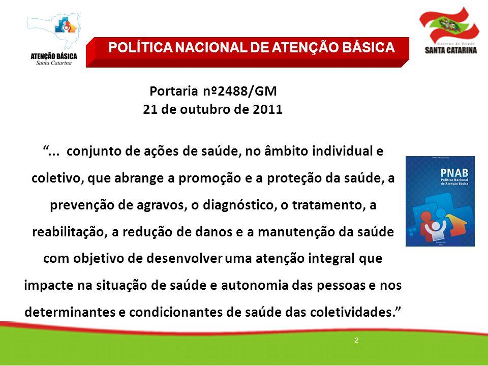 """2 Portaria nº2488/GM 21 de outubro de 2011 """"... conjunto de ações de saúde, no âmbito individual e coletivo, que abrange a promoção e a proteção da sa"""