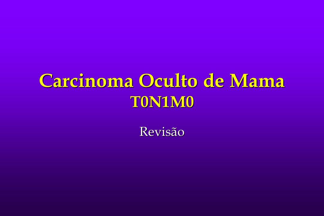 Carcinoma Oculto de Mama T0N1M0 Revisão
