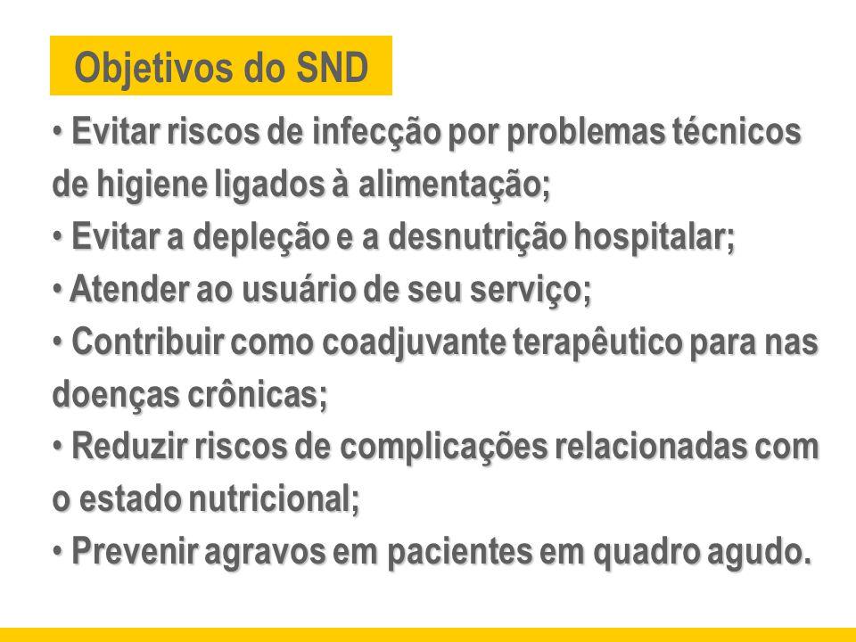 Evitar riscos de infecção por problemas técnicos de higiene ligados à alimentação; Evitar riscos de infecção por problemas técnicos de higiene ligados