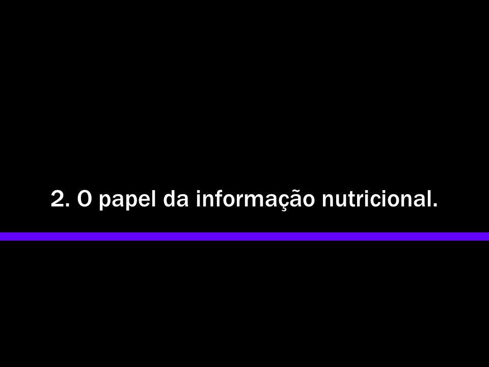 2. O papel da informação nutricional.