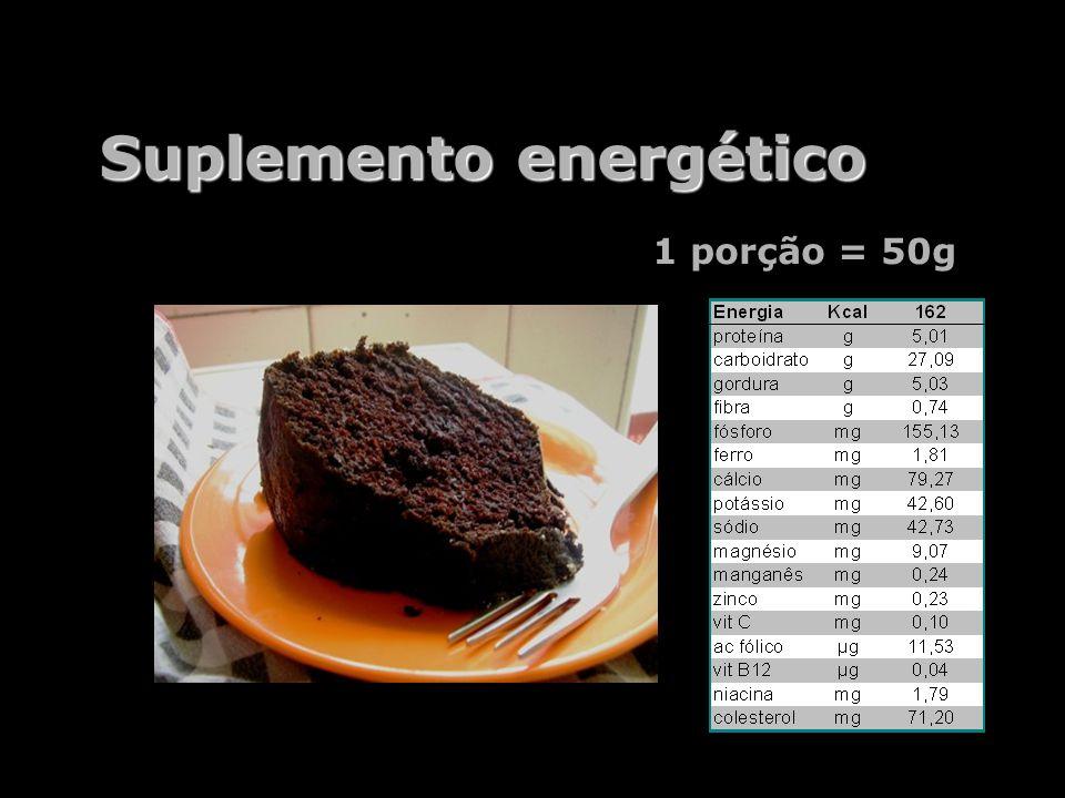 Suplemento energético 1 porção = 50g