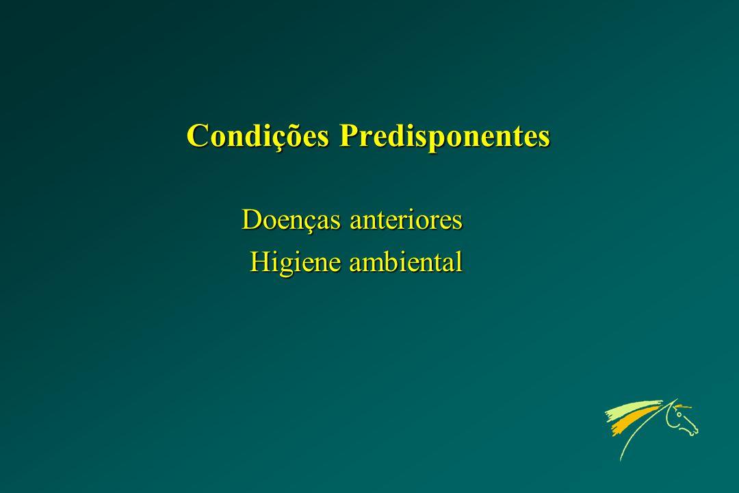 Condições Predisponentes Doenças anteriores Higiene ambiental Higiene ambiental