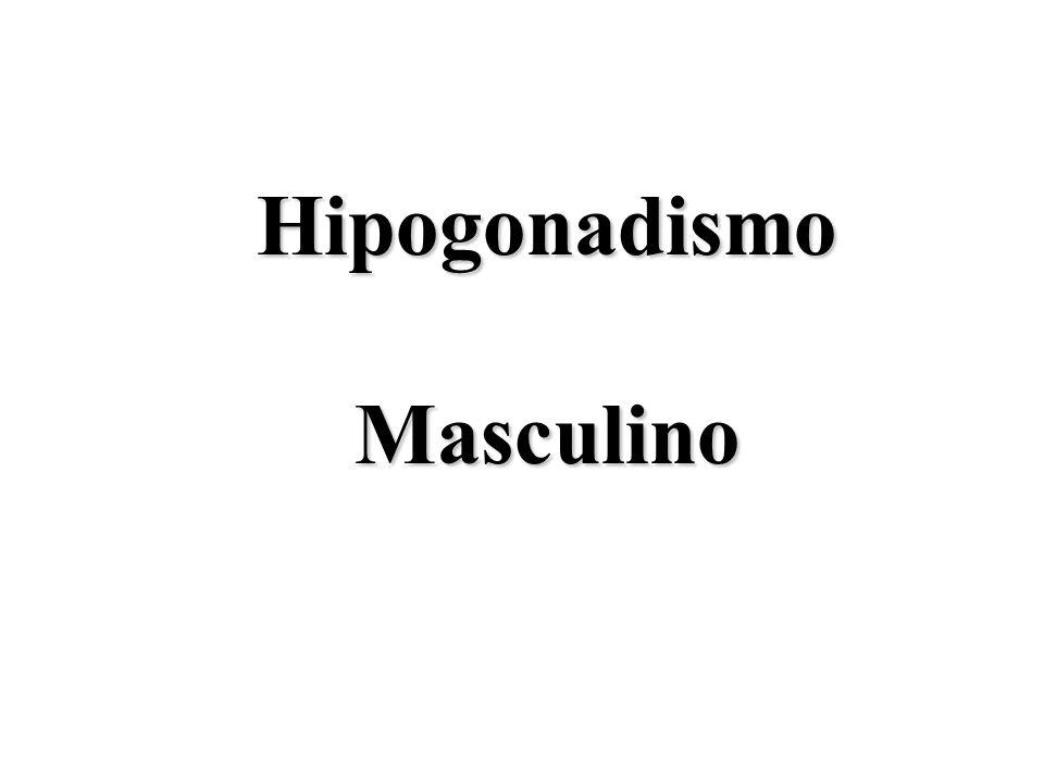Definição O hipogonadismo é uma condição clínica caracterizada por baixos níveis de testosterona sérica associados com os sinais e sintomas abaixo:  Aspecto Sexual  Diminuição da libido, alteração Carac.