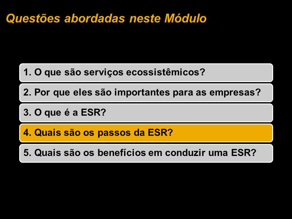 Questões abordadas neste Módulo 1. O que são serviços ecossistêmicos 2.