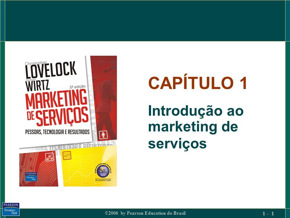 ©2006 by Pearson Education do Brasil 1 - 22 Implicações dos processos de serviço: (4) Equilíbrio entre demanda e capacidade Quando a capacidade de atender é limitada e a flutuação da demanda é alta, surgem problemas porque o produto que é serviço não pode ser armazenado : 1.