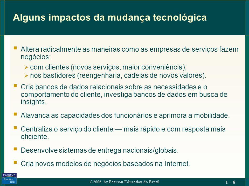 ©2006 by Pearson Education do Brasil 1 - 9 Diferenças relevantes de marketing de bens e de serviços