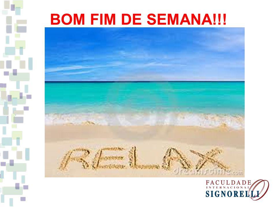 BOM FIM DE SEMANA!!!