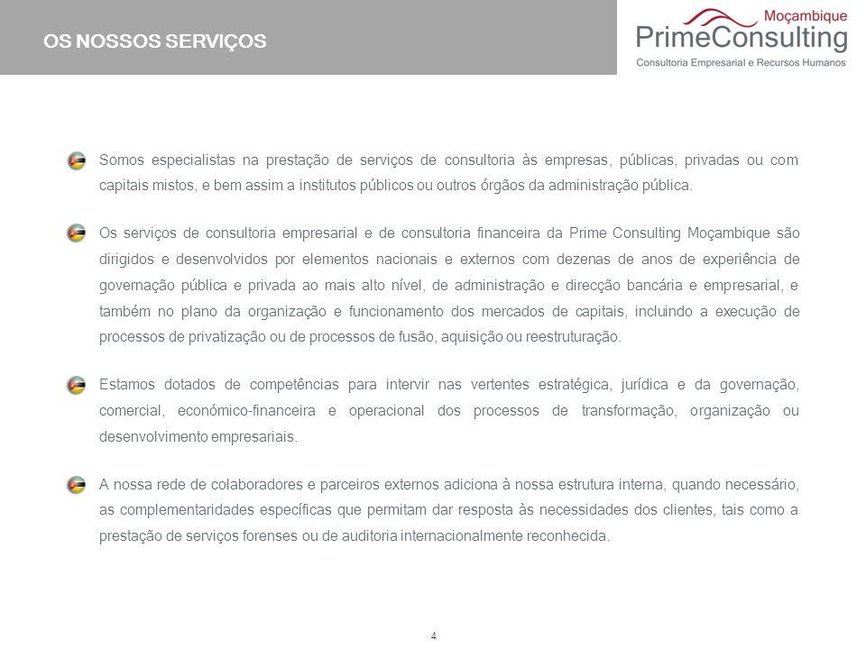 4 Somos especialistas na prestação de serviços de consultoria às empresas, públicas, privadas ou com capitais mistos, e bem assim a institutos público