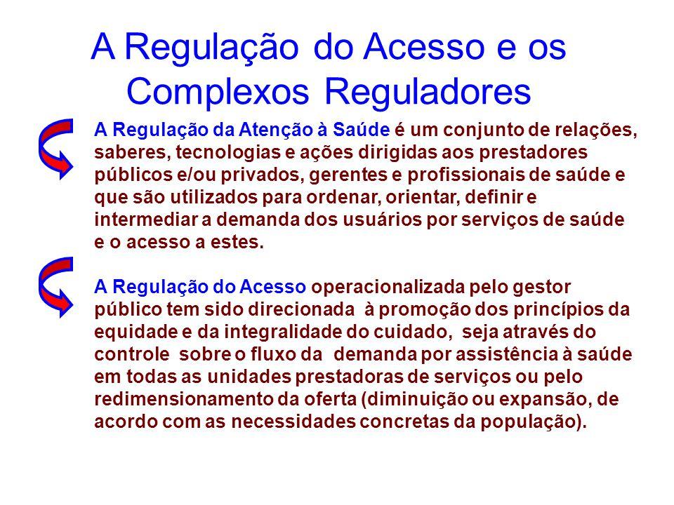 A Regulação da Atenção à Saúde é um conjunto de relações, saberes, tecnologias e ações dirigidas aos prestadores públicos e/ou privados, gerentes e pr