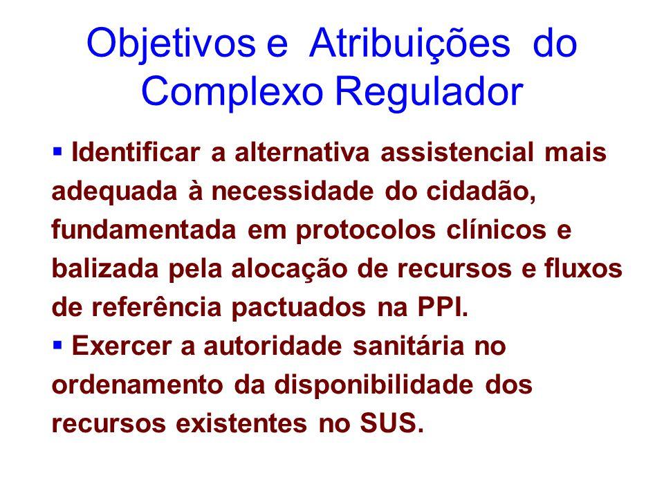  Identificar a alternativa assistencial mais adequada à necessidade do cidadão, fundamentada em protocolos clínicos e balizada pela alocação de recursos e fluxos de referência pactuados na PPI.