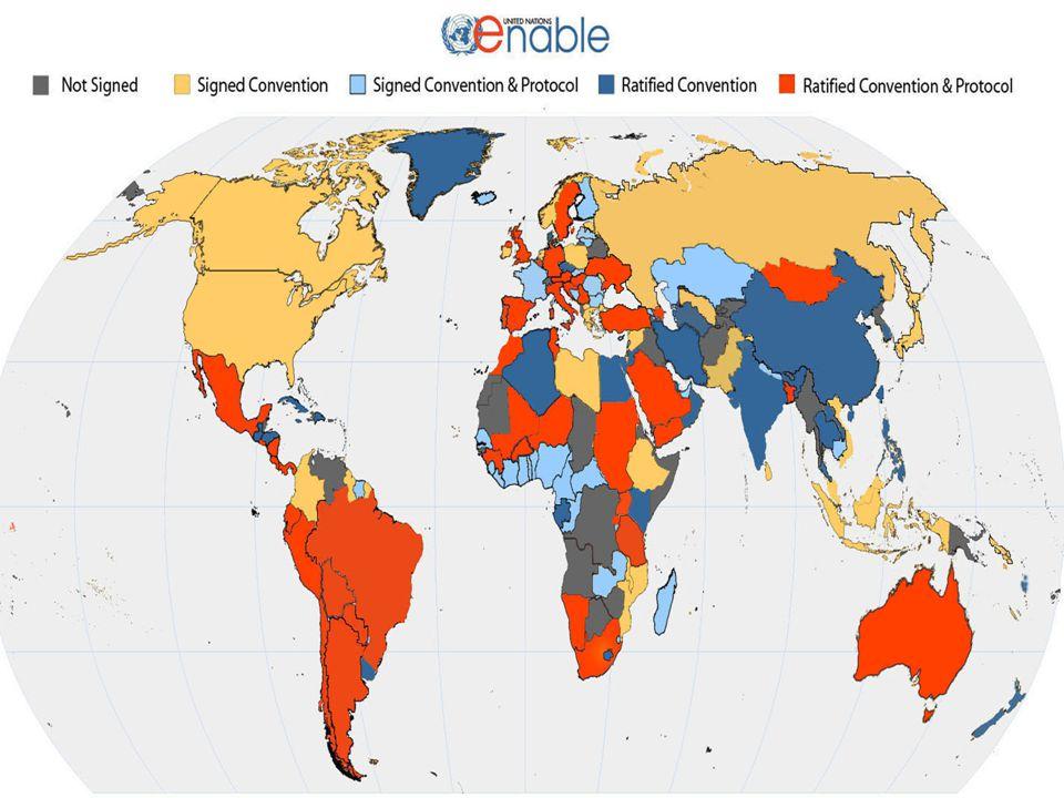 Convenção sobre os Direitos das Pessoas com deficiências - CDPCD Entrada em vigor a 3 de Maio de 2008.