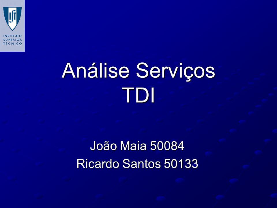 Análise Serviços TDI João Maia 50084 Ricardo Santos 50133