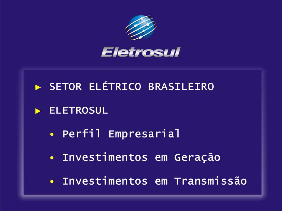 Sistema de Transmissão 57 Subestações 41 Próprias Mato Grosso do Sul 4 1 Paraná 7 1 Santa Catarina16 2 Rio Grande do Sul1411 16 Terceiros São Paulo - 1 20.880,3 MVA Capacidade de Transformação Perfil Empresarial
