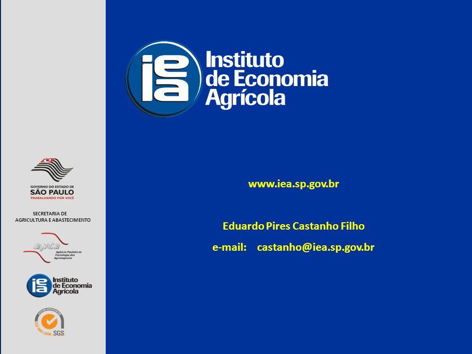 www.iea.sp.gov.br Eduardo Pires Castanho Filho e-mail: castanho@iea.sp.gov.br SECRETARIA DE AGRICULTURA E ABASTECIMENTO