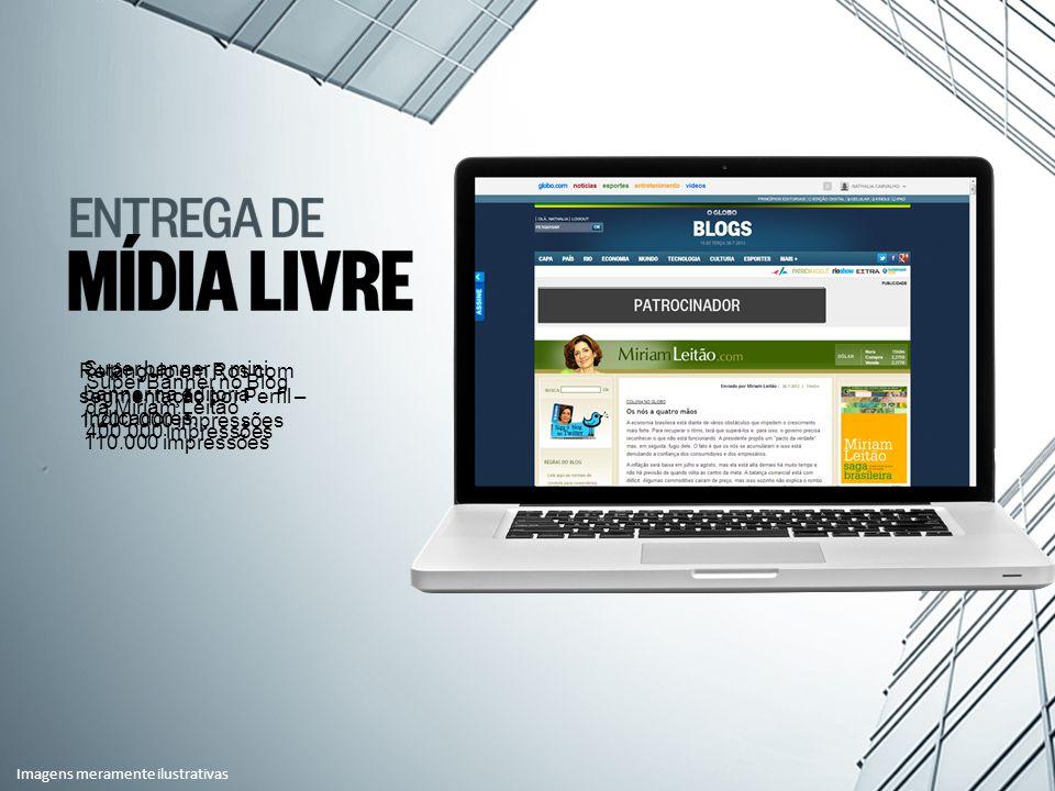 Super Banner no Blog da Miriam Leitão 400.000 impressões Super banner e mini banner na editoria Indicadores.