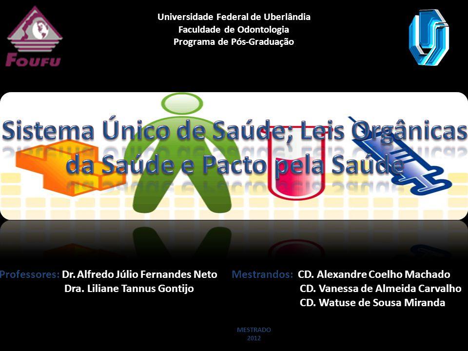 Universidade Federal de Uberlândia Faculdade de Odontologia Programa de Pós-Graduação Professores: Dr. Alfredo Júlio Fernandes Neto Dra. Liliane Tannu