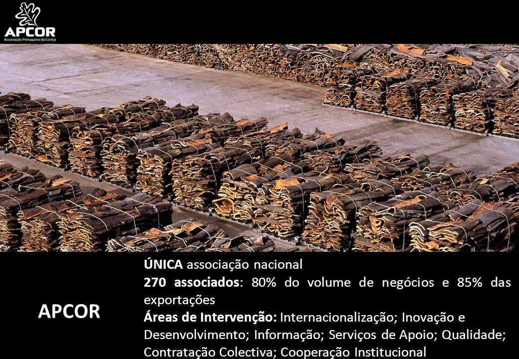 APCOR ÚNICA associação nacional 270 associados: 80% do volume de negócios e 85% das exportações Áreas de Intervenção: Internacionalização; Inovação e Desenvolvimento; Informação; Serviços de Apoio; Qualidade; Contratação Colectiva; Cooperação Institucional
