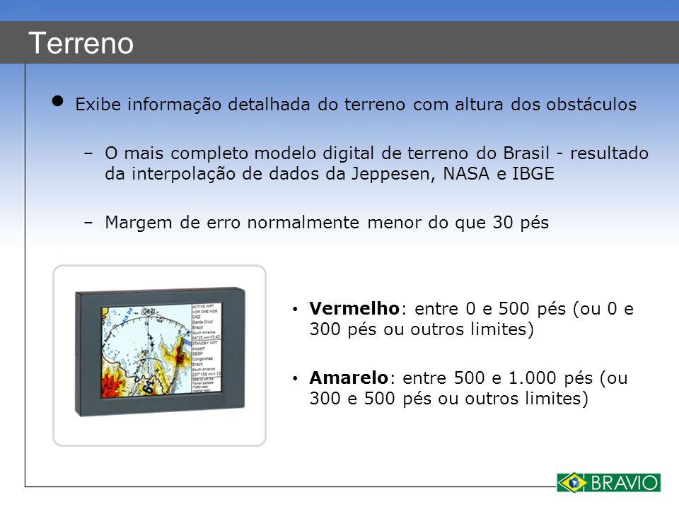 Terreno Exibe informação detalhada do terreno com altura dos obstáculos − O mais completo modelo digital de terreno do Brasil - resultado da interpola