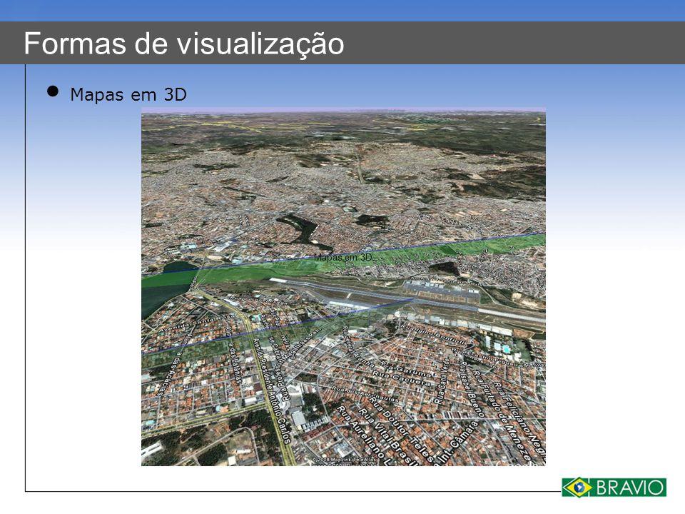 Formas de visualização Mapas em 3D