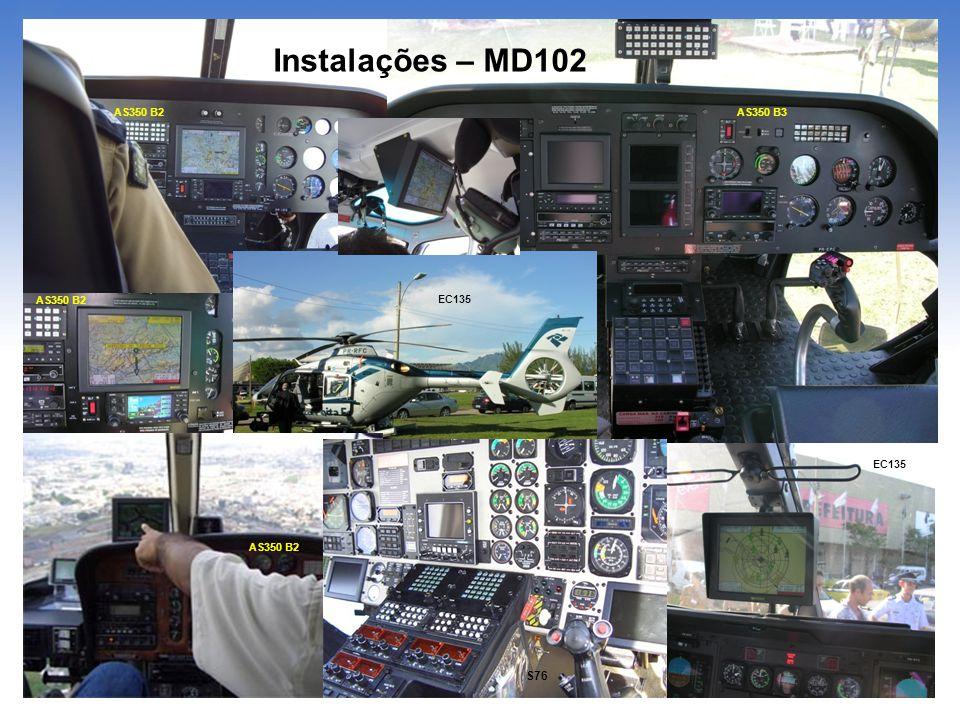 Instalações – MD102 AS350 B2 S76 AS350 B2 EC135 AS350 B3 AS350 B2