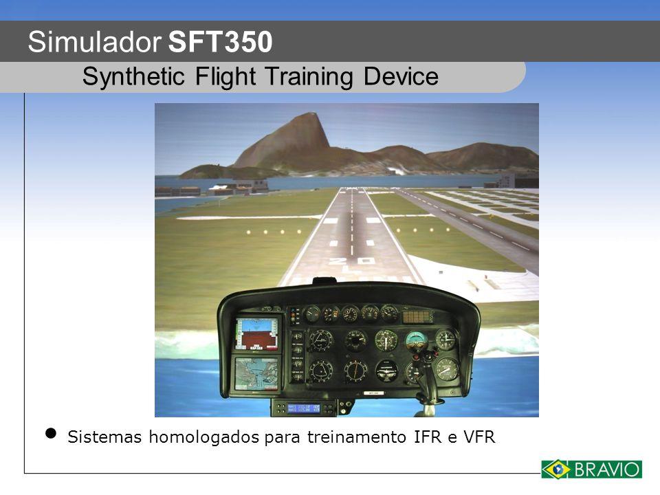 Simulador SFT350 Sistemas homologados para treinamento IFR e VFR Synthetic Flight Training Device