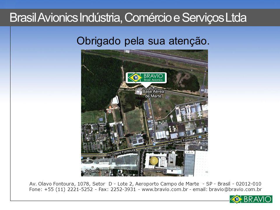 Obrigado pela sua atenção. Av. Olavo Fontoura, 1078, Setor D - Lote 2, Aeroporto Campo de Marte - SP - Brasil - 02012-010 Fone: +55 (11) 2221-5252 - F