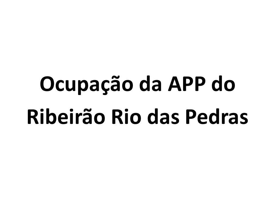 Ocupação da APP do Ribeirão Rio das Pedras