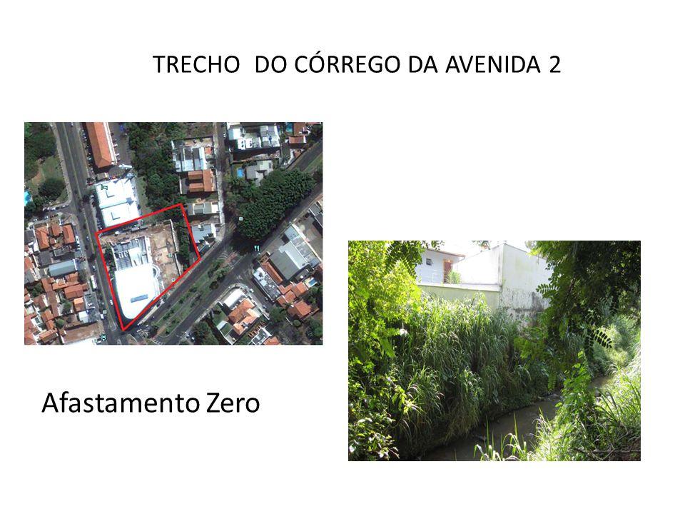 TRECHO DO CÓRREGO DA AVENIDA 2 Afastamento Zero