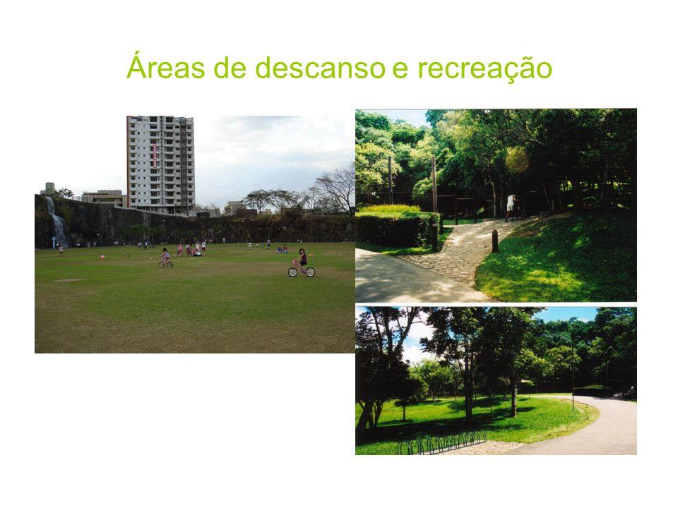 Áreas de descanso e recreação