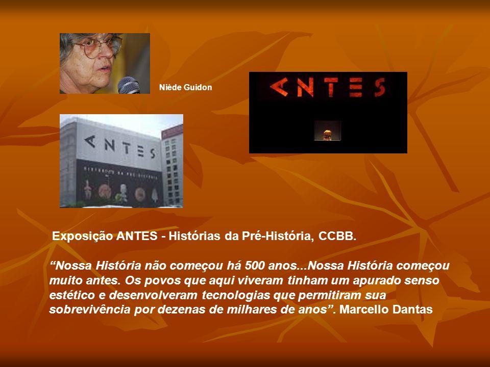 """Niède Guidon Exposição ANTES - Histórias da Pré-História, CCBB. """"Nossa História não começou há 500 anos...Nossa História começou muito antes. Os povos"""