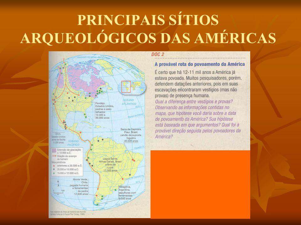 PRINCIPAIS SÍTIOS ARQUEOLÓGICOS DAS AMÉRICAS