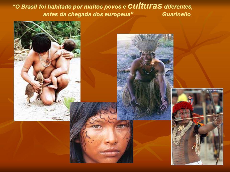"""""""O Brasil foi habitado por muitos povos e culturas diferentes, antes da chegada dos europeus"""" Guarinello"""
