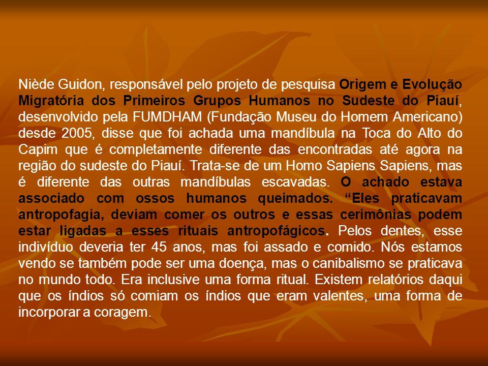 Niède Guidon, responsável pelo projeto de pesquisa Origem e Evolução Migratória dos Primeiros Grupos Humanos no Sudeste do Piauí, desenvolvido pela FU