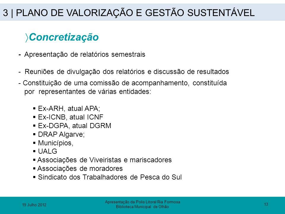 3 | PLANO DE VALORIZAÇÃO E GESTÃO SUSTENTÁVEL 13 - Apresentação de relatórios semestrais - Reuniões de divulgação dos relatórios e discussão de result